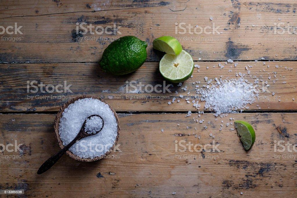 Salt and Lime stock photo