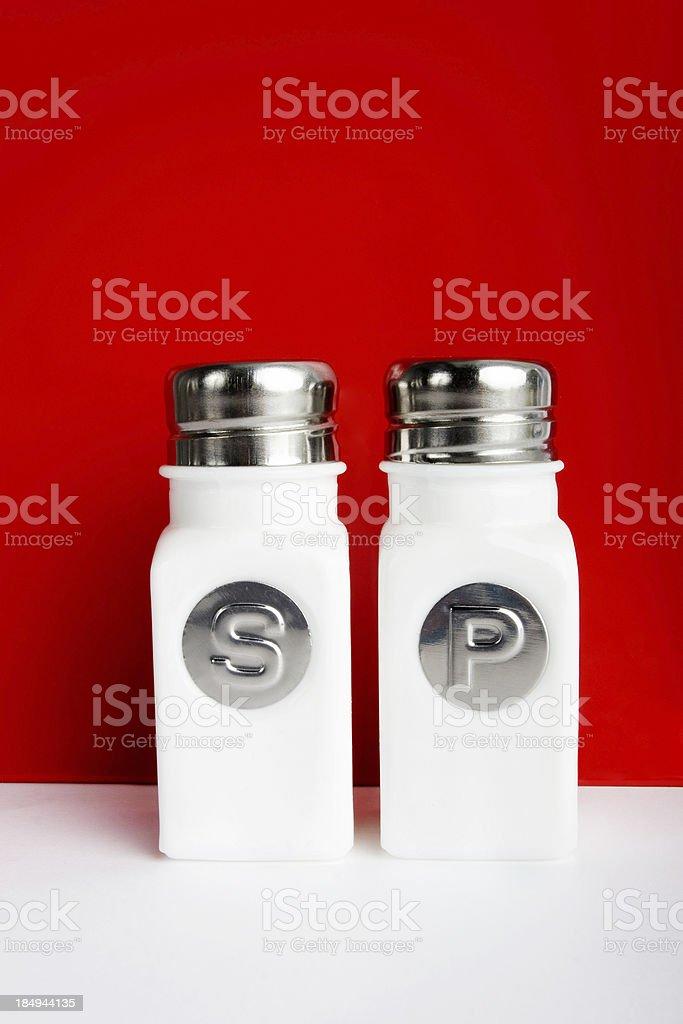 Salt and Pepper Bottles royalty-free stock photo