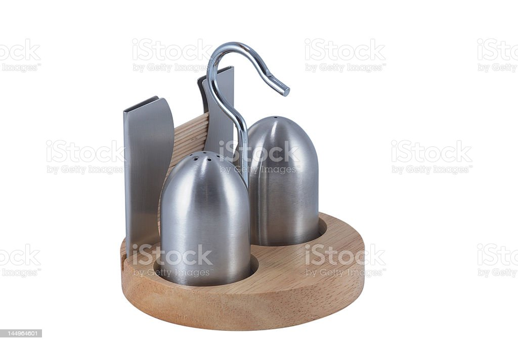 Salt and pepper cells, with clipping path royalty-free stock photo