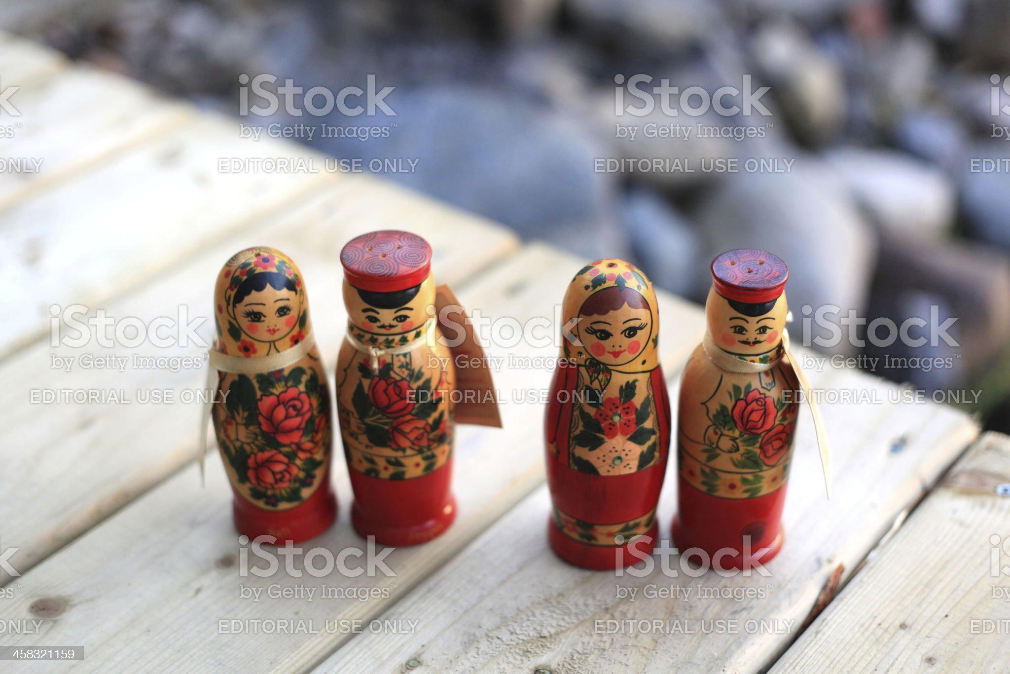Salt and Pepper Matryoshka Doll royalty-free stock photo