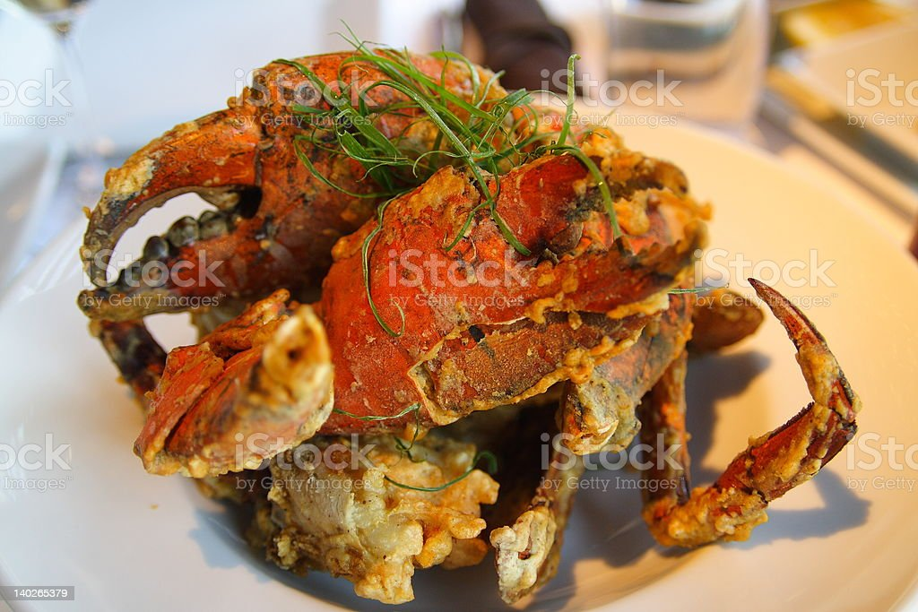 Salt and Pepper Mud Crab stock photo