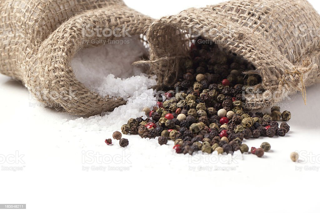 salt and pepper scattered stock photo