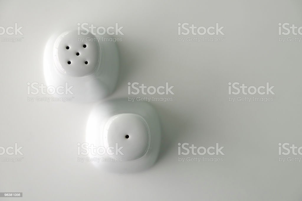Salt and Pepper Shaker Made Of Porcelain stock photo