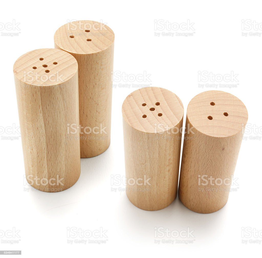 Salt and Pepper Shakers stock photo
