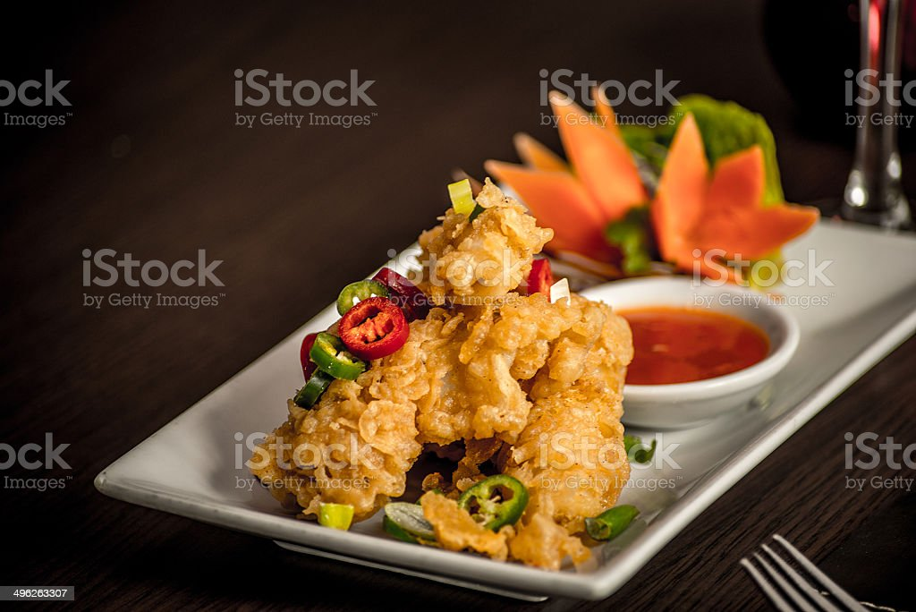 Salt and Pepper Squid stock photo