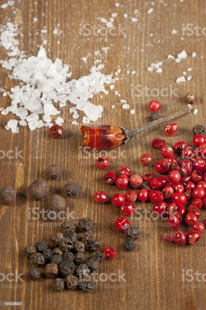salt and pepper's mix royalty-free stock photo