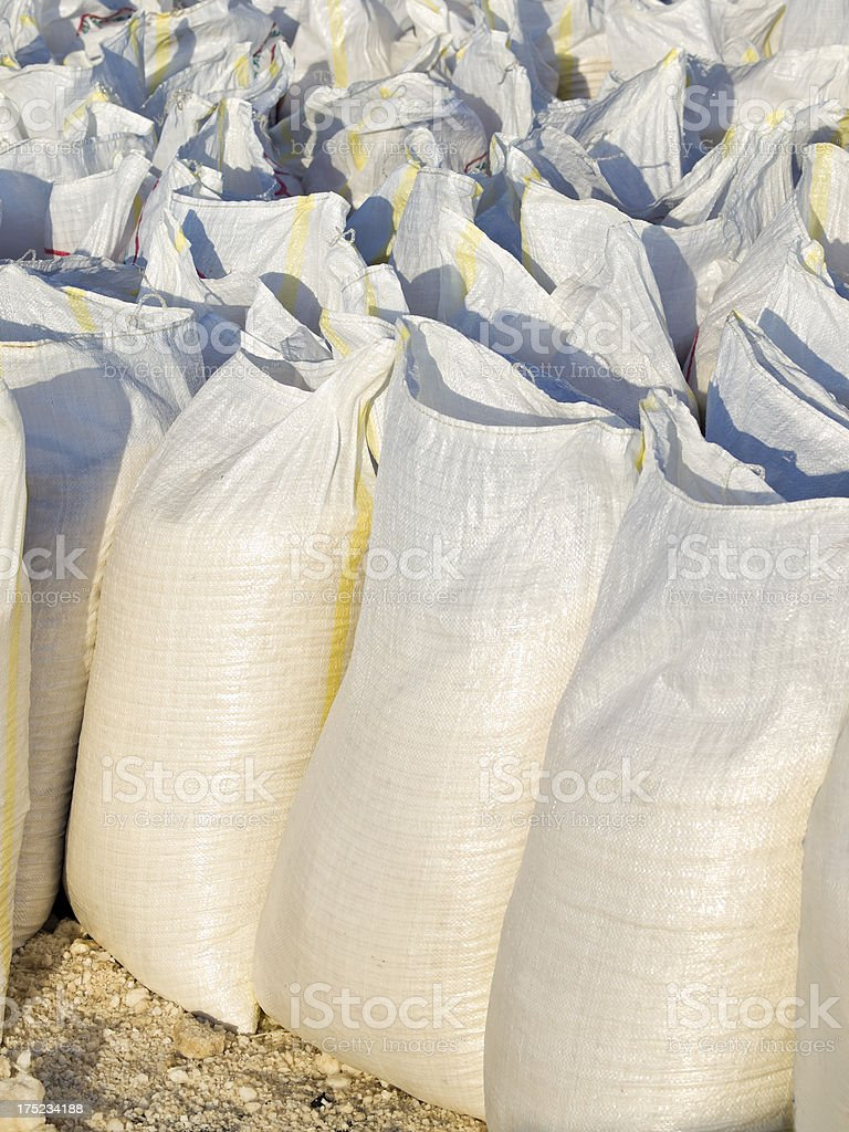 Salt bags stock photo