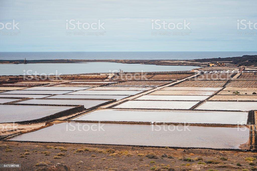 Salt basines stock photo