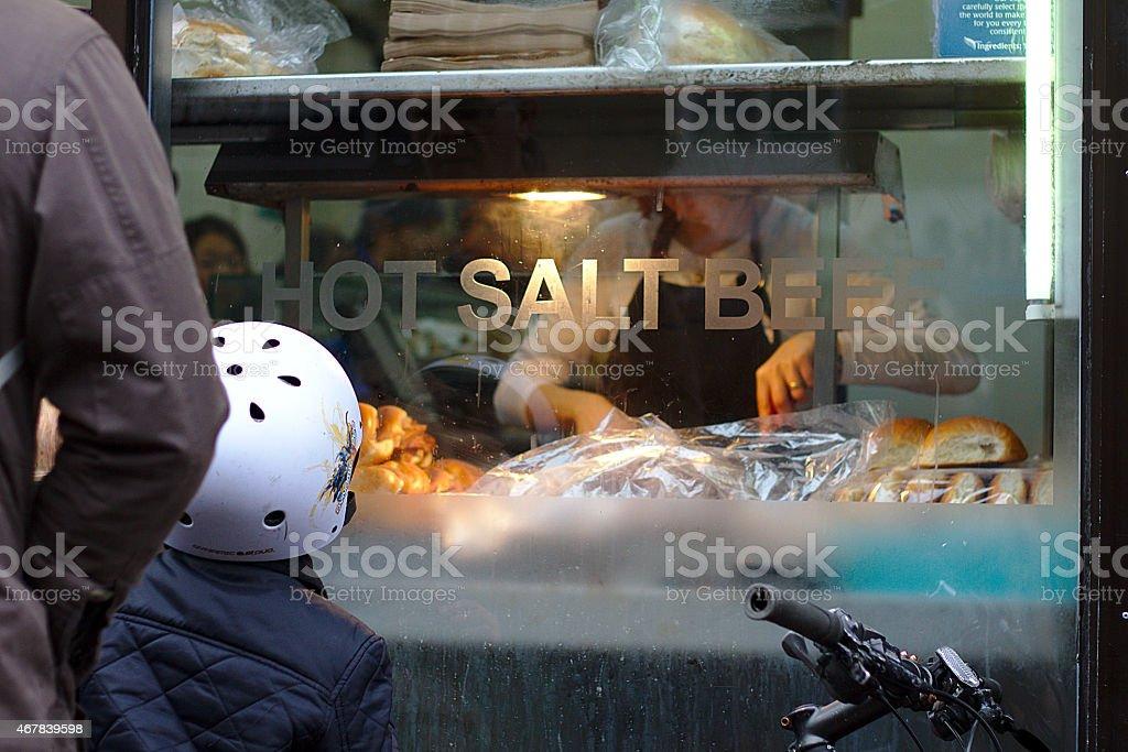Salt Beef stock photo