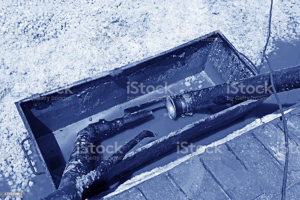 salt collection equipment royalty-free stock photo