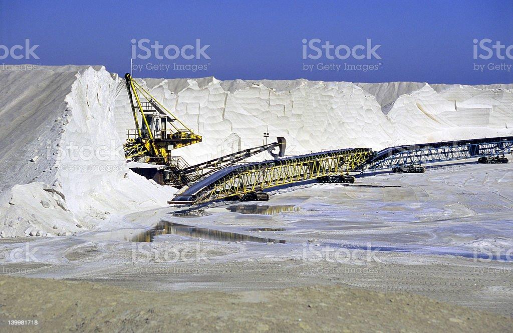 Salt Conveyor royalty-free stock photo