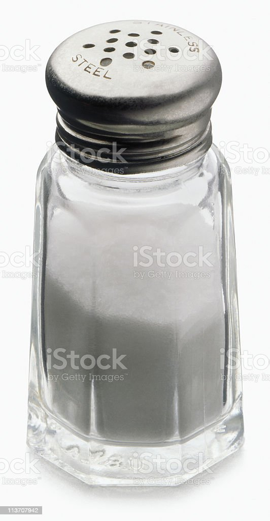 salt cut out on white stock photo