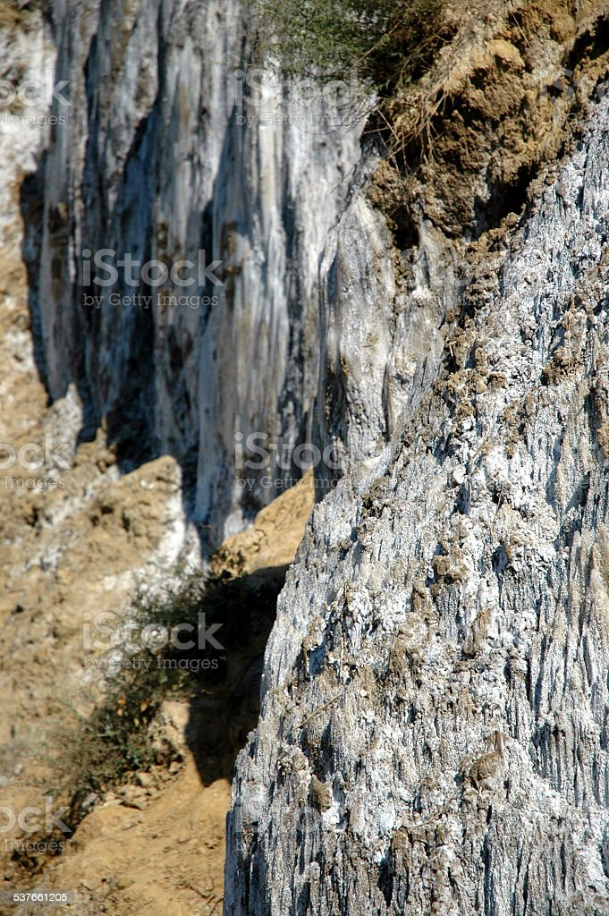 Salt deposit, a sedimentary geological strata stock photo