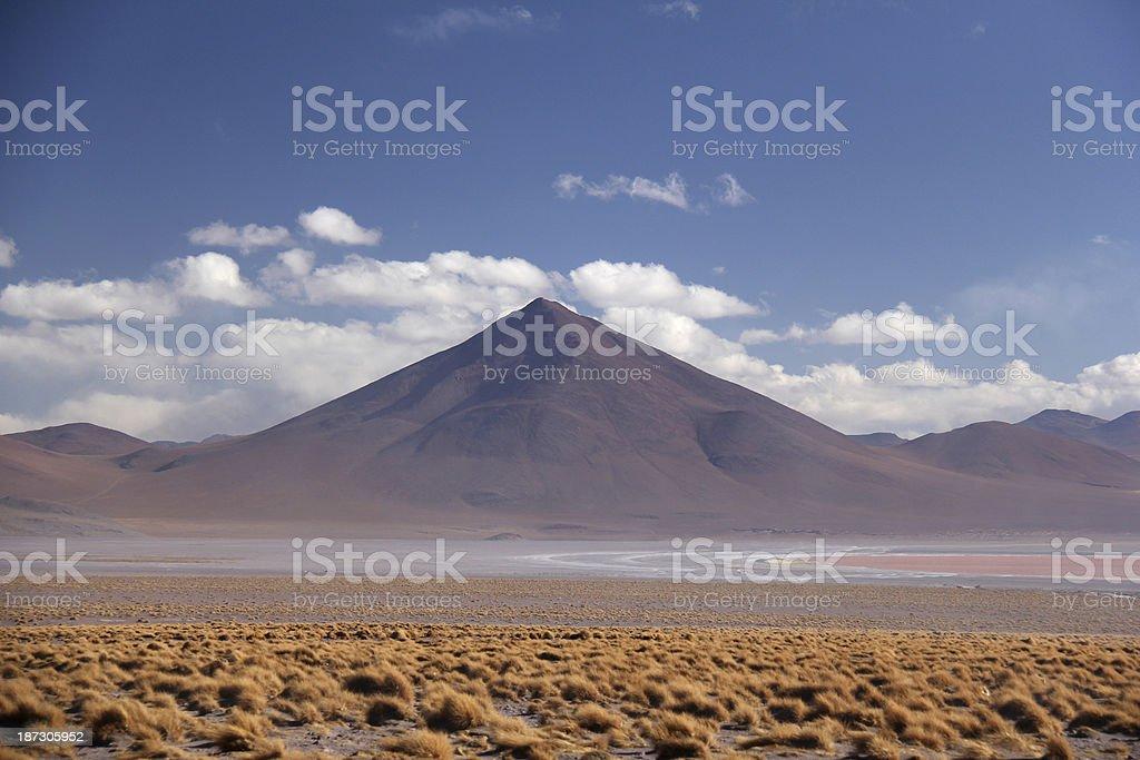 Salt desert Uyuni in Bolivia stock photo