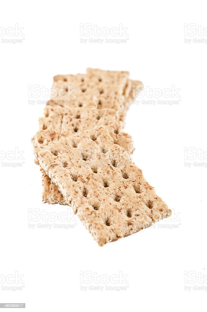 salt diet crackers on white background royalty-free stock photo