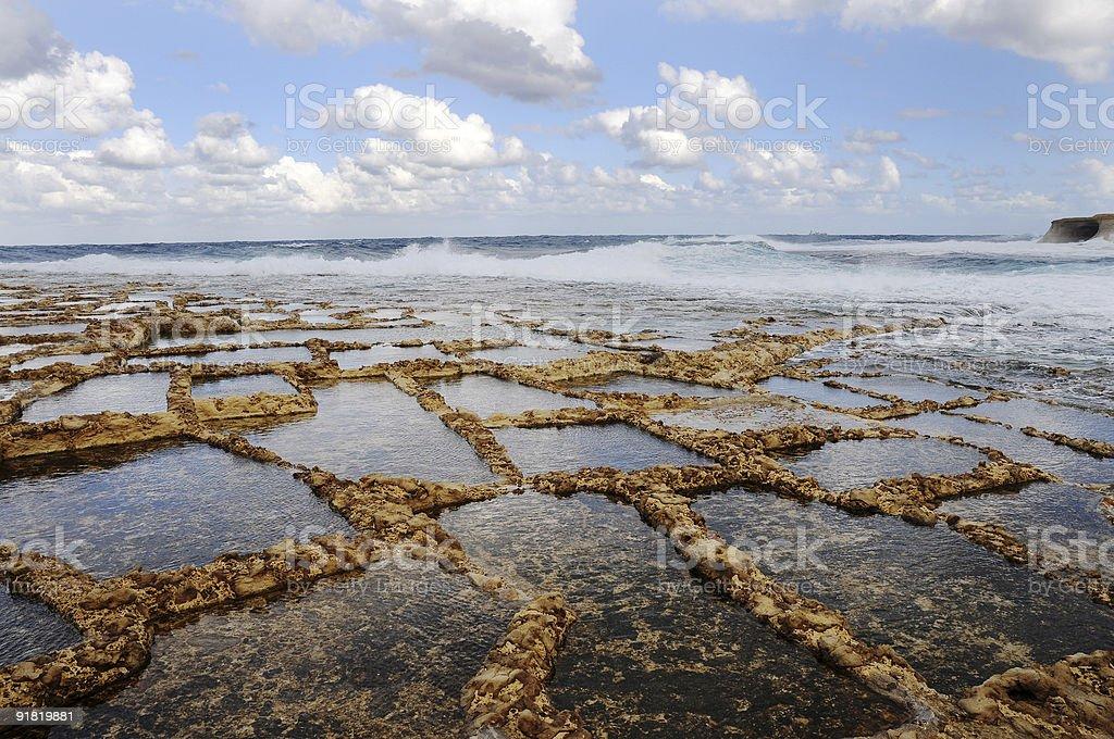 Соль испарения водоемы Стоковые фото Стоковая фотография