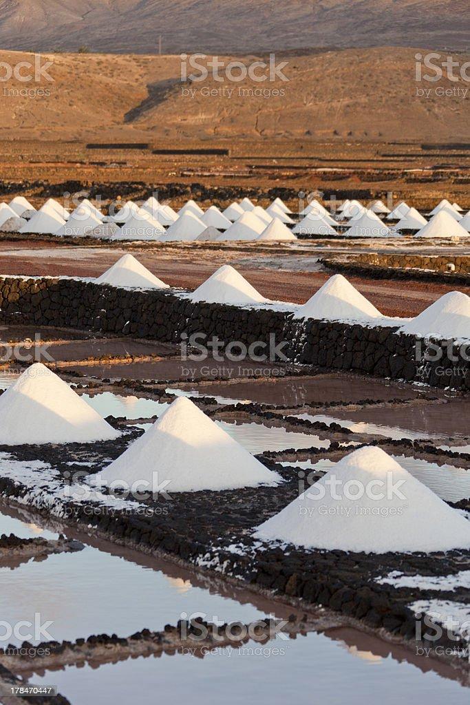 Salt extraction plant royalty-free stock photo