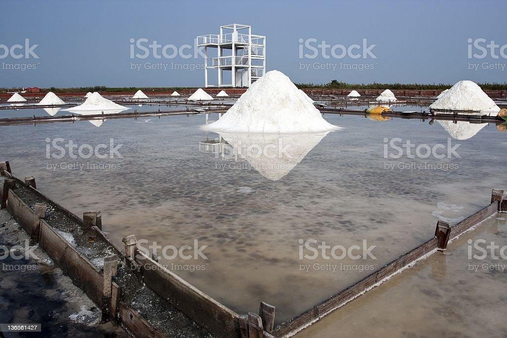salt farm royalty-free stock photo