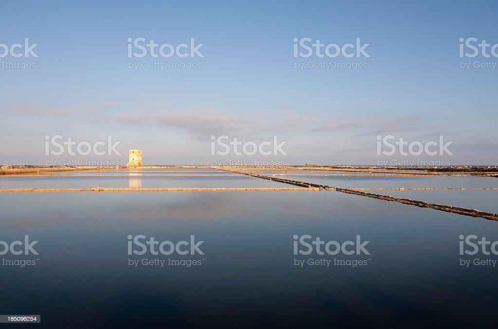 Salt field royalty-free stock photo