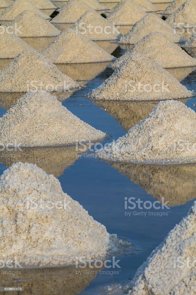 salt fields stock photo