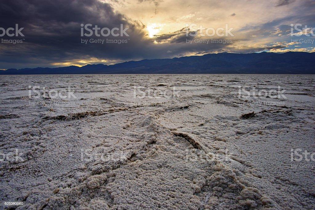 Salt Flat Panoram stock photo