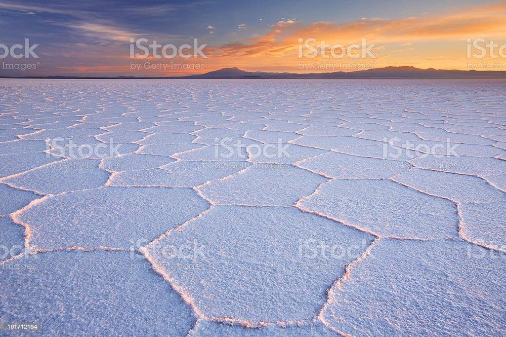 Salt flat Salar de Uyuni stock photo