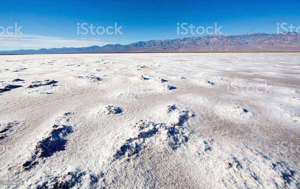Salt flats near Death Valley stock photo