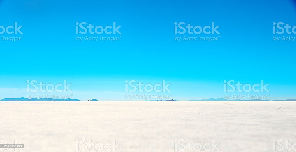 Salt flats near the great salt lake stock photo