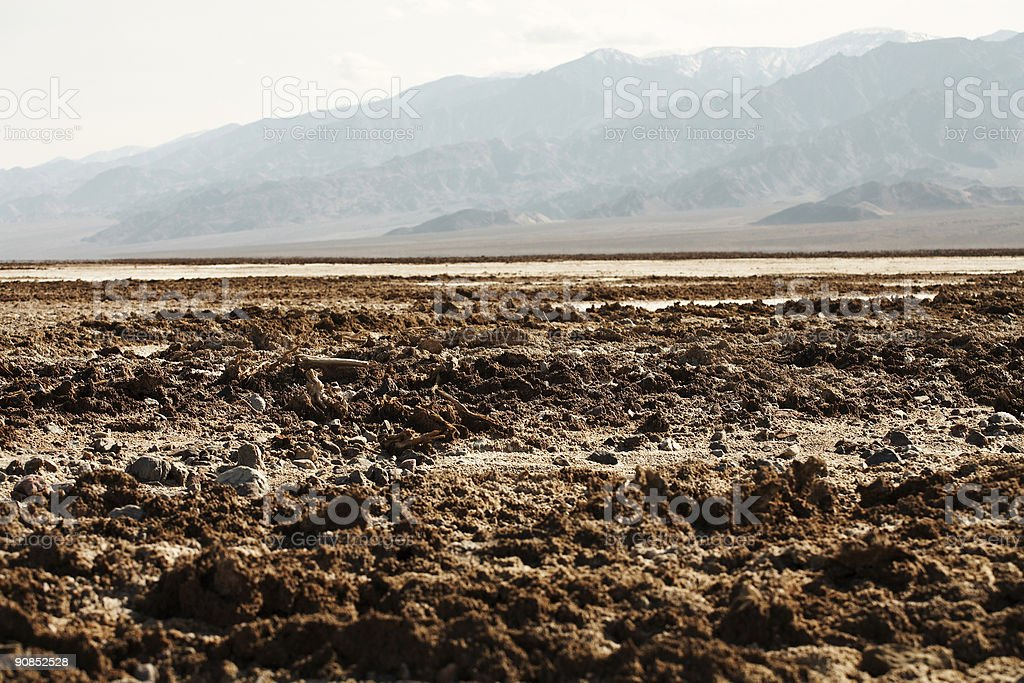 Salt Flats of Death Valley royalty-free stock photo