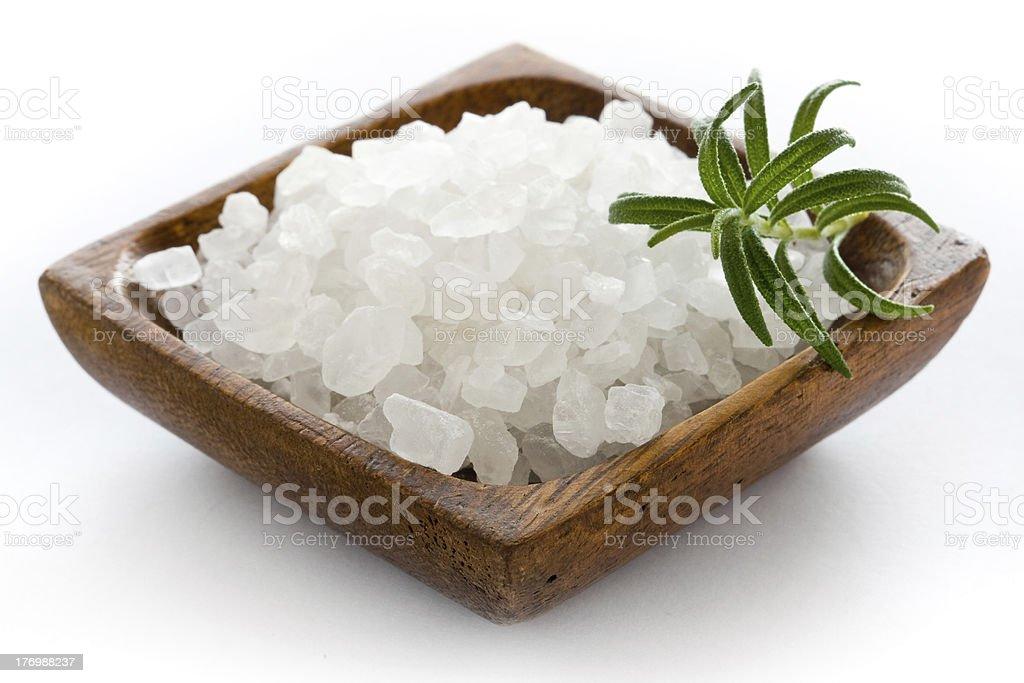 Salt from sea stock photo
