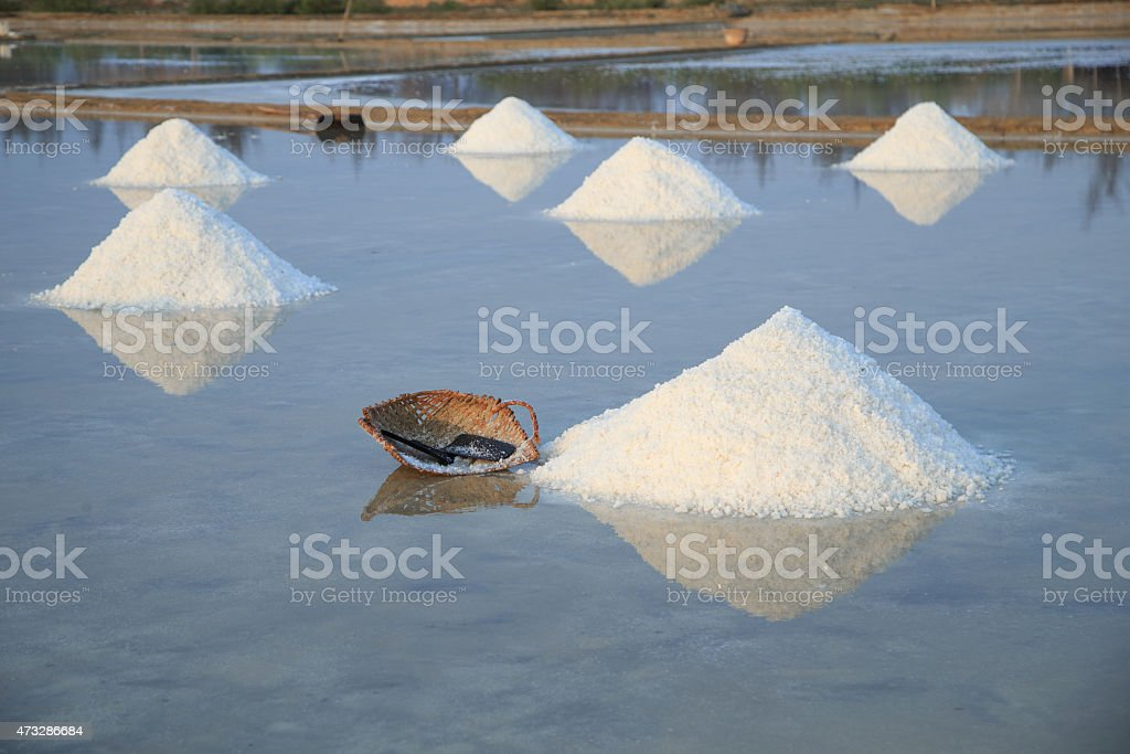 Salt in Can Gio, Vietnam royalty-free stock photo