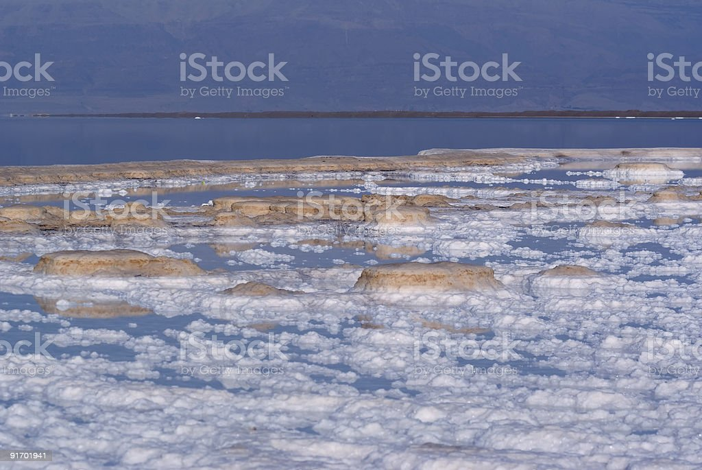Salt in the Dead Sea royalty-free stock photo