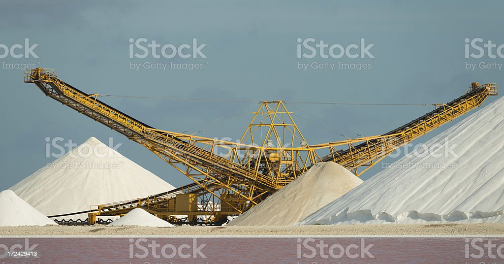 salt industry stock photo