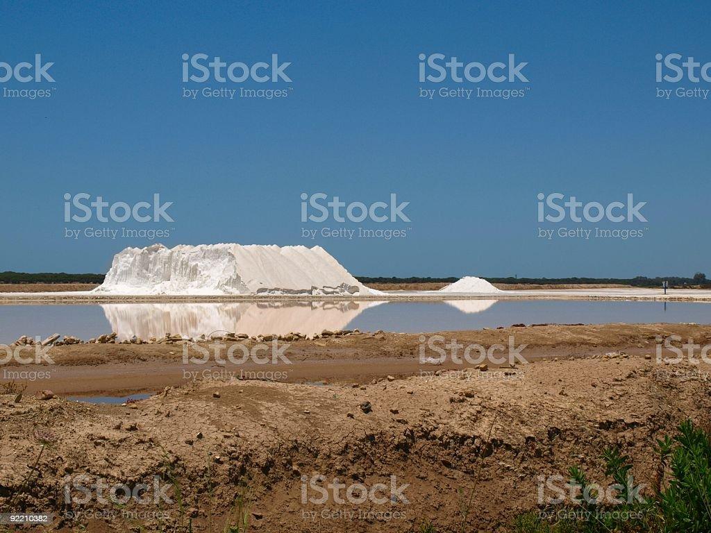 Salt lagoon - industry. stock photo