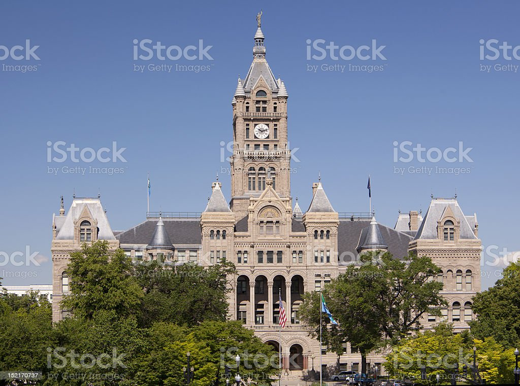 Salt Lake City and County Building royalty-free stock photo