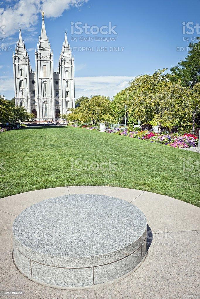 Salt Lake City Church of Jesus Christ Utah  USA stock photo
