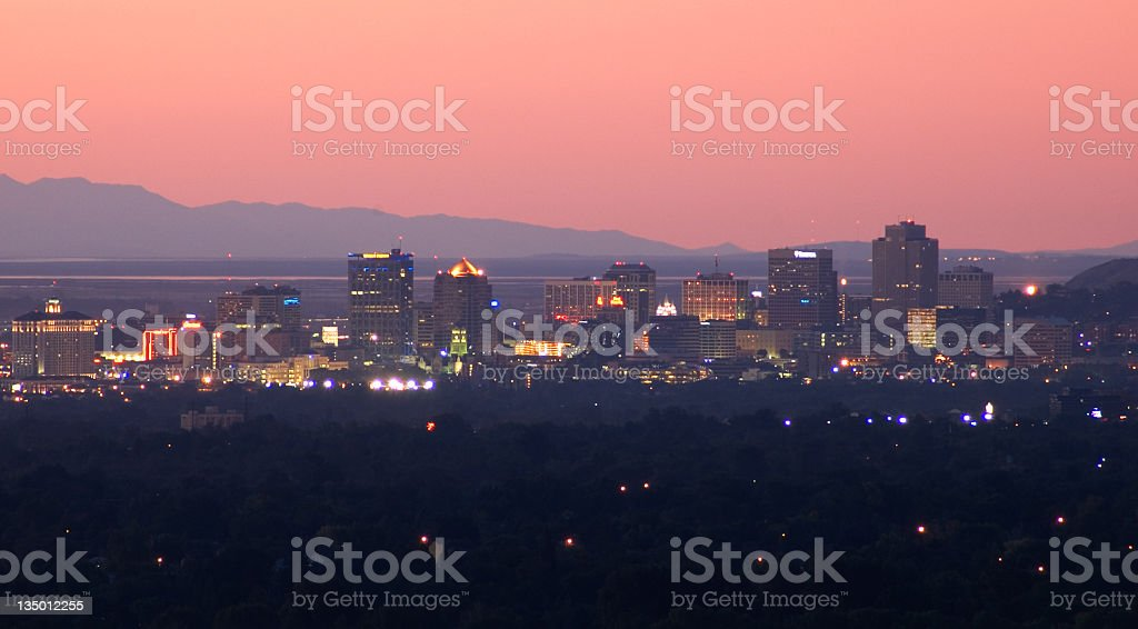 Salt Lake City downtown royalty-free stock photo