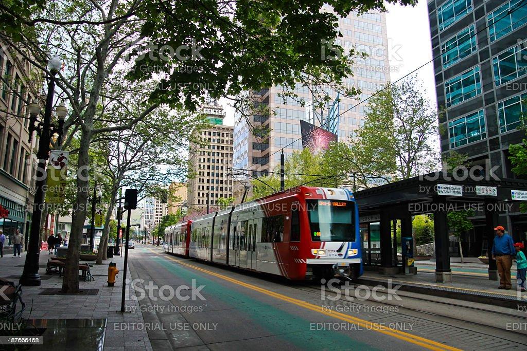 Salt Lake City - downtown stock photo