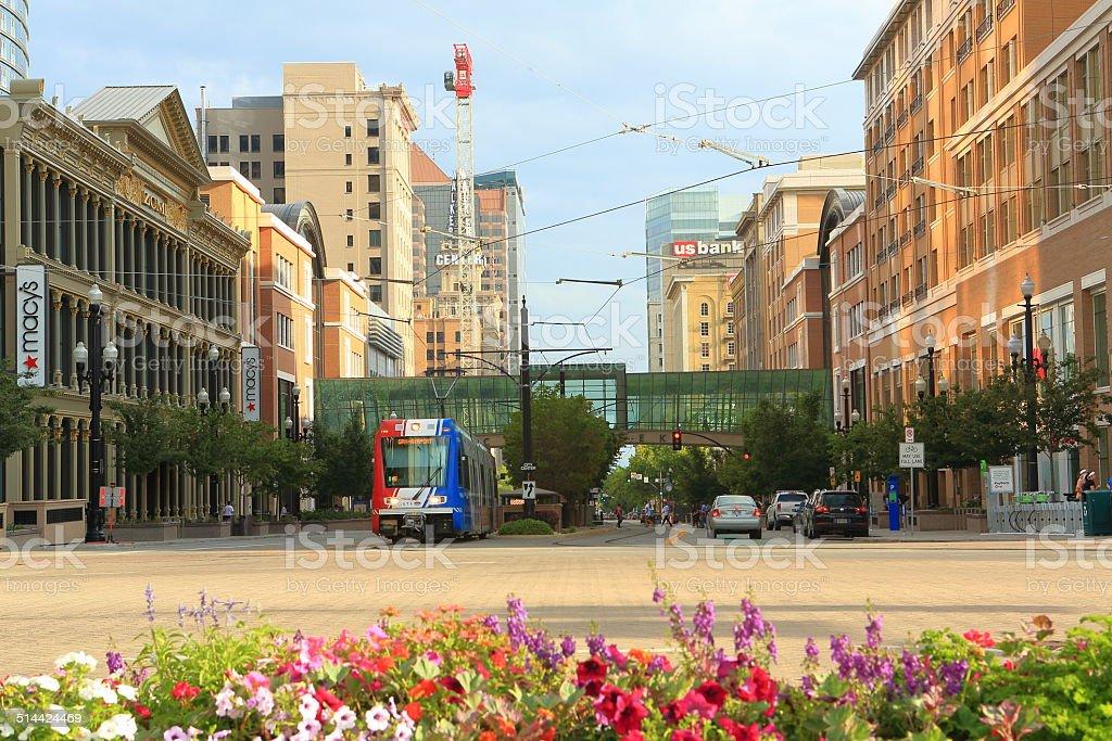 Salt Lake City Downtown stock photo