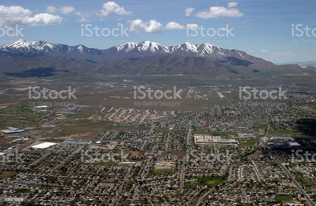 Salt Lake City from above stock photo
