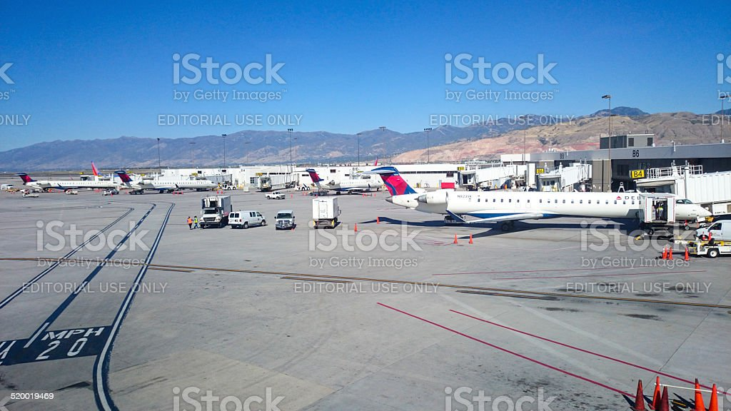 Salt Lake City International Airport stock photo