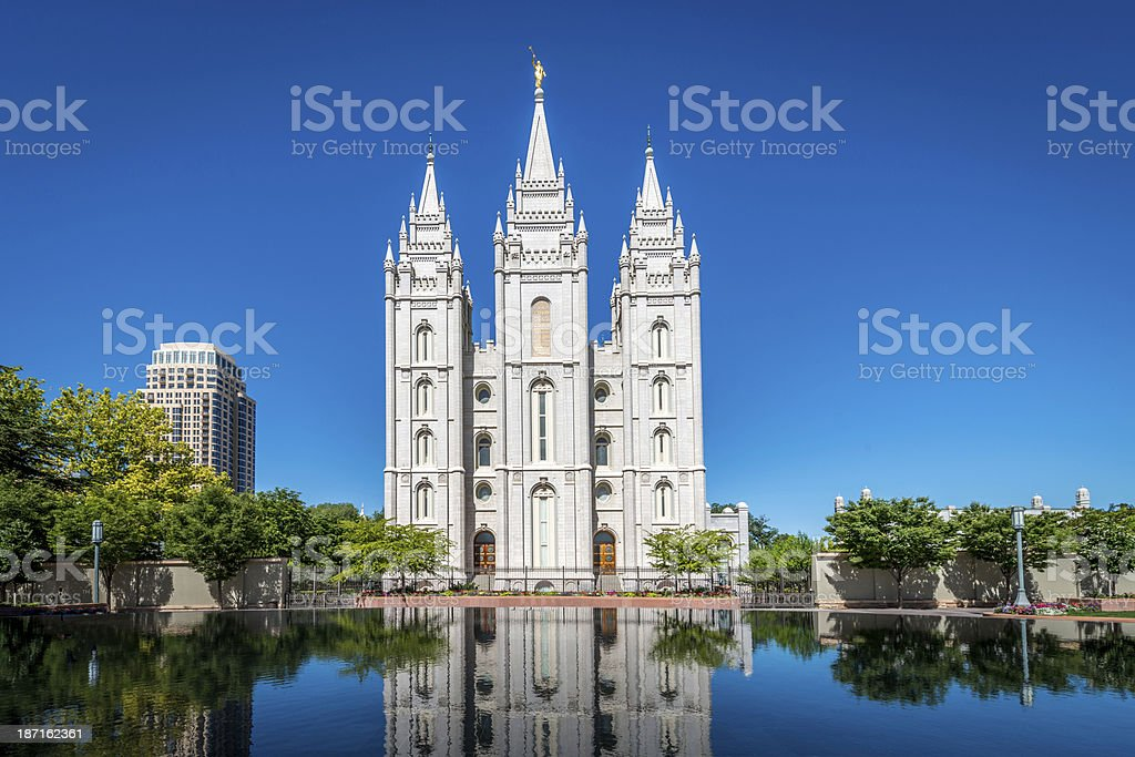 Salt Lake City LDS Temple stock photo