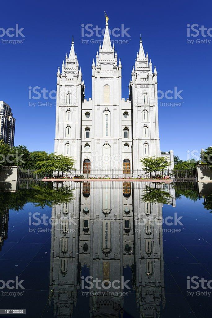 Salt Lake City Mormon Temple royalty-free stock photo