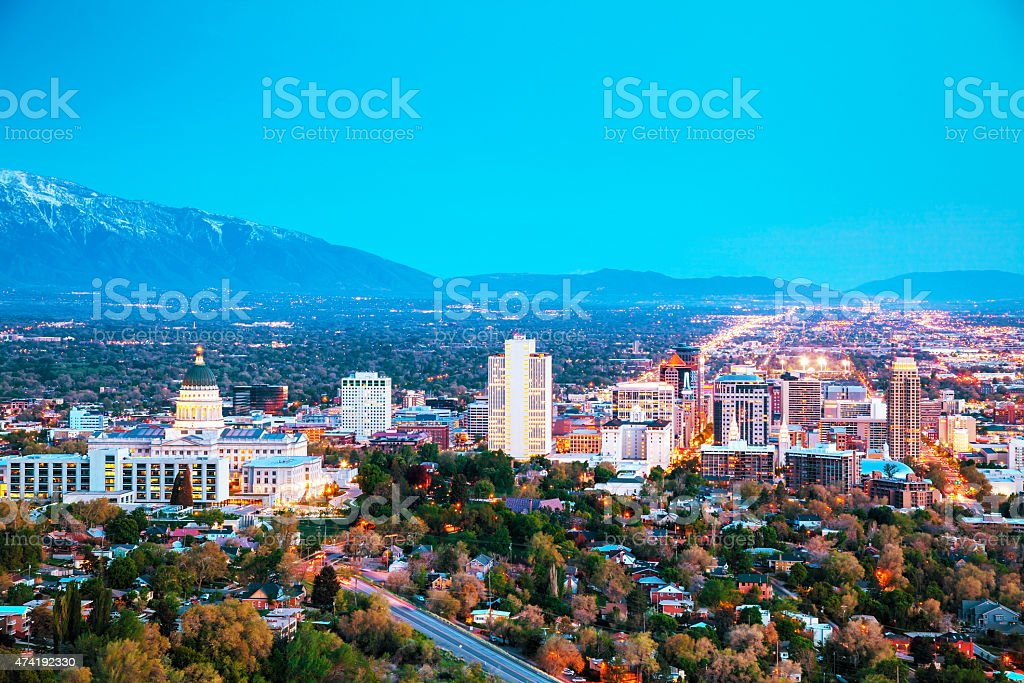 Salt Lake City overview stock photo