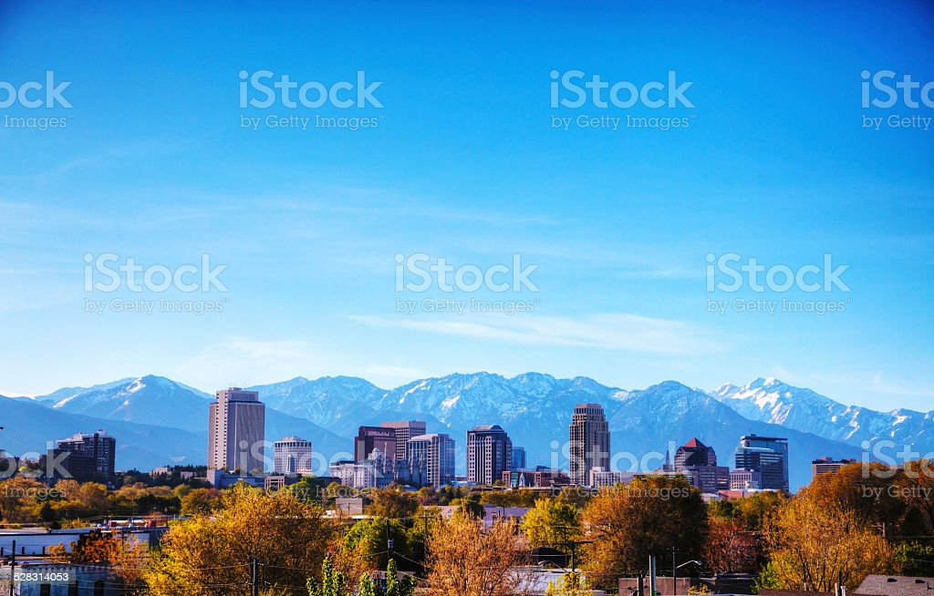 Salt Lake City overview stock photo