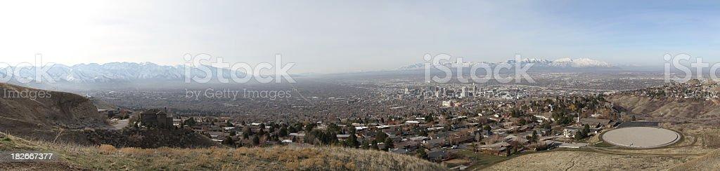 Salt Lake City Panoramic royalty-free stock photo