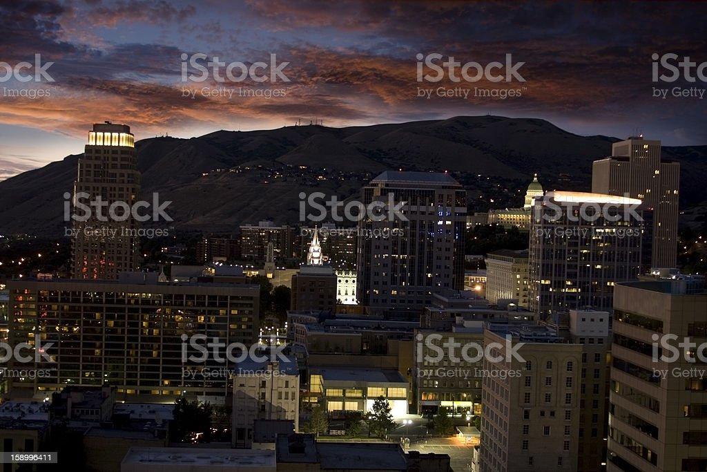 Salt Lake City royalty-free stock photo