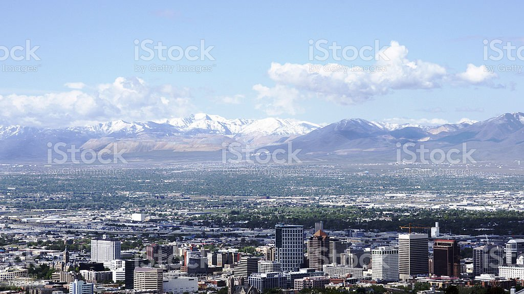 Salt Lake City royalty-free stock photo