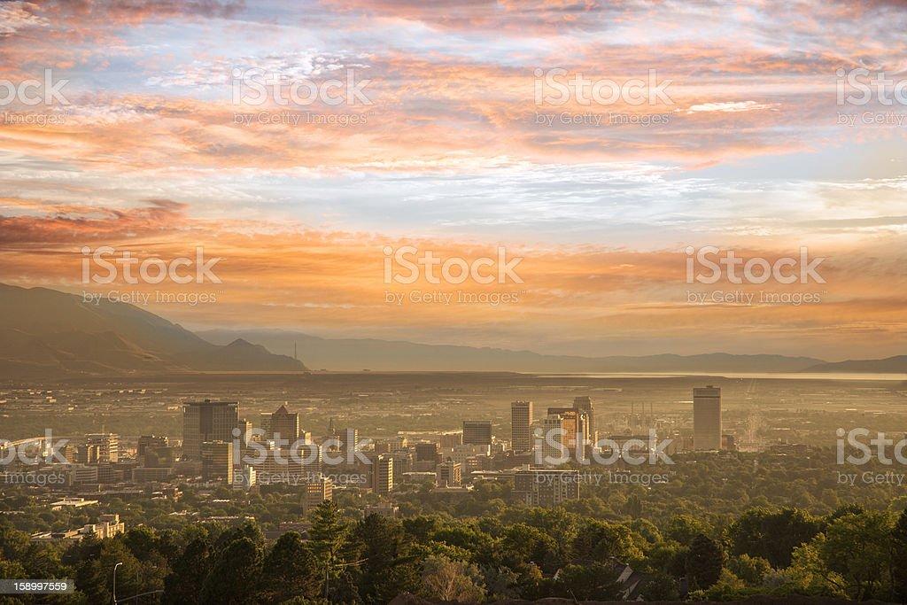 Salt Lake City Skyline stock photo