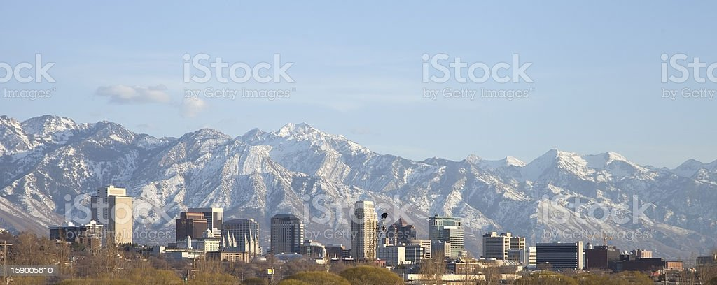 Salt Lake City Skyline stock photo